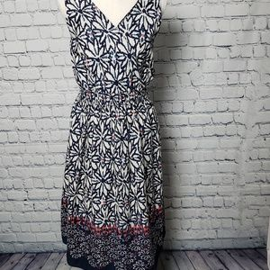 Avenue Sleeveless Dress with Floral Pattern